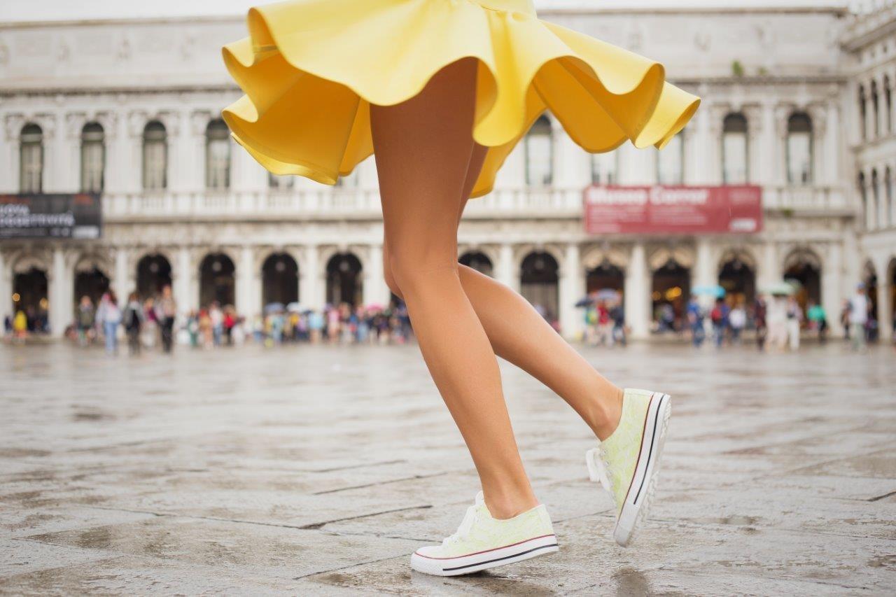 Nur ein Schritt zu schönen Beinen!