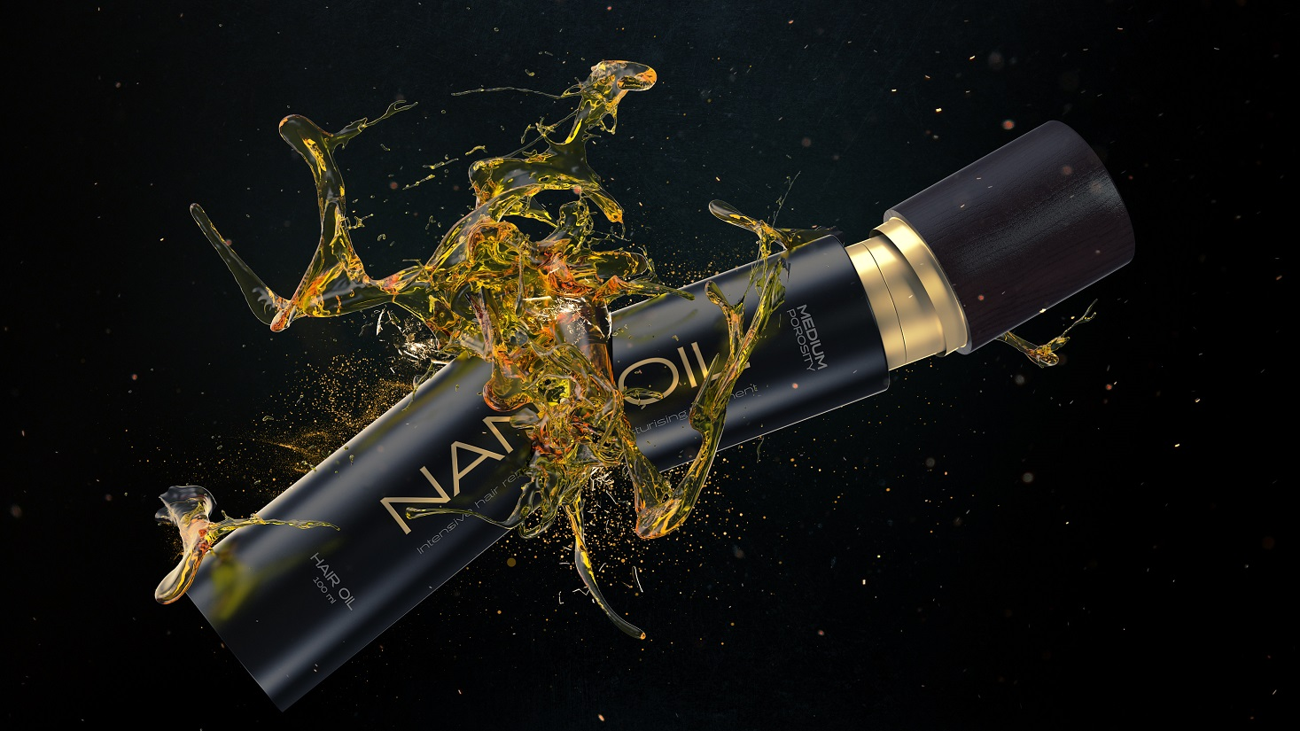 Das ist NANOIL, das beste Haaröl zum Schutz und Stylen der Haare